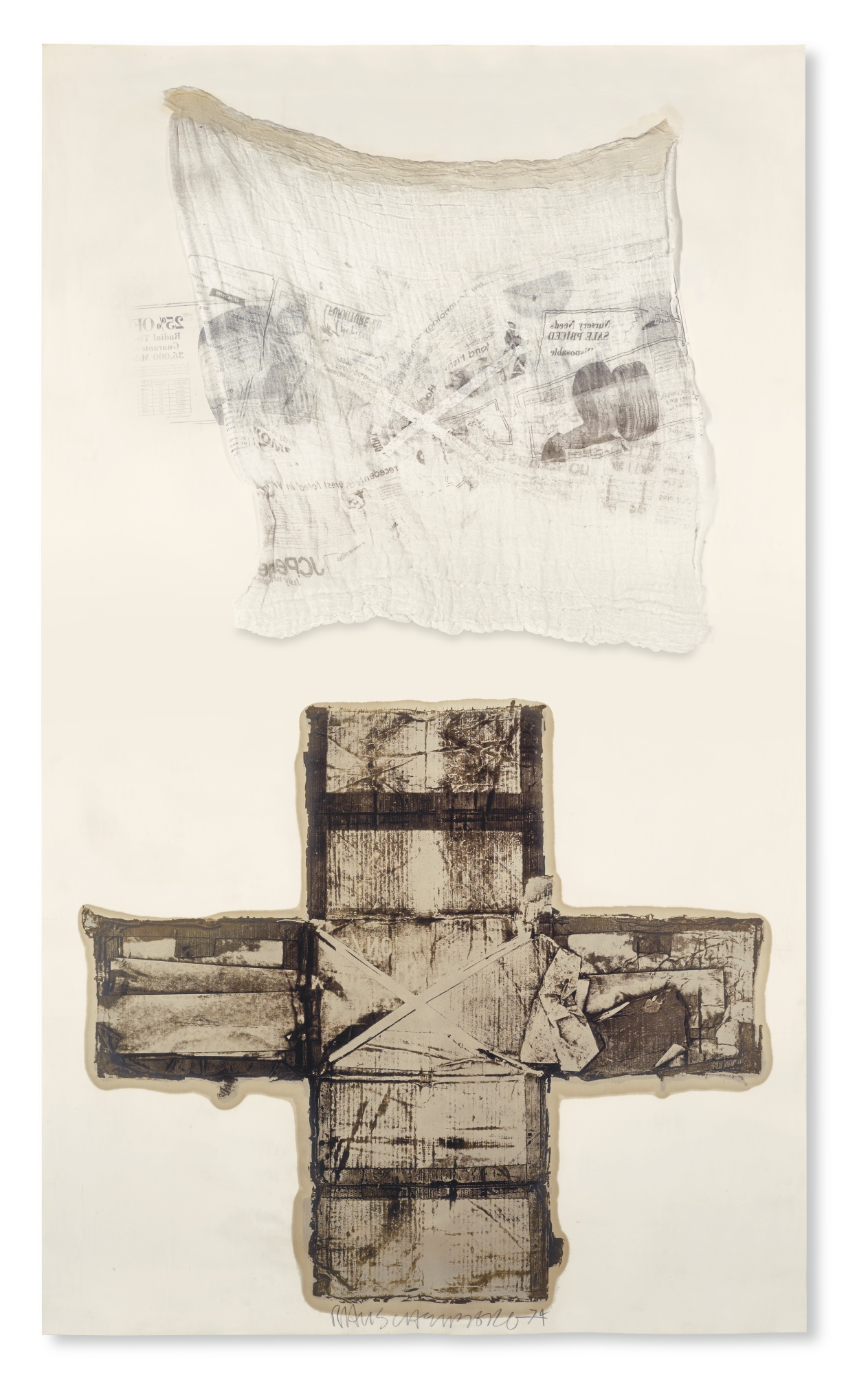 Robert Rauschenberg-Untitled (From The Egyptian Series)-1974