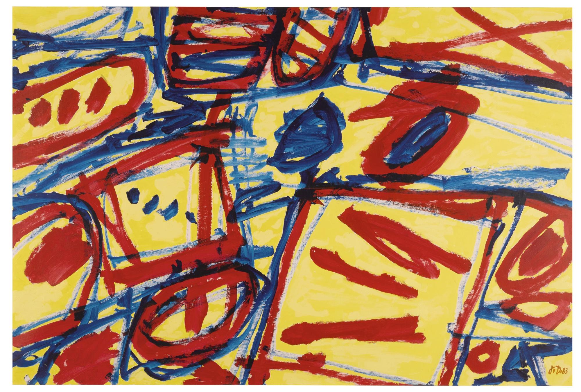 Jean Dubuffet-Mire G 128 (Kowloon)-1983