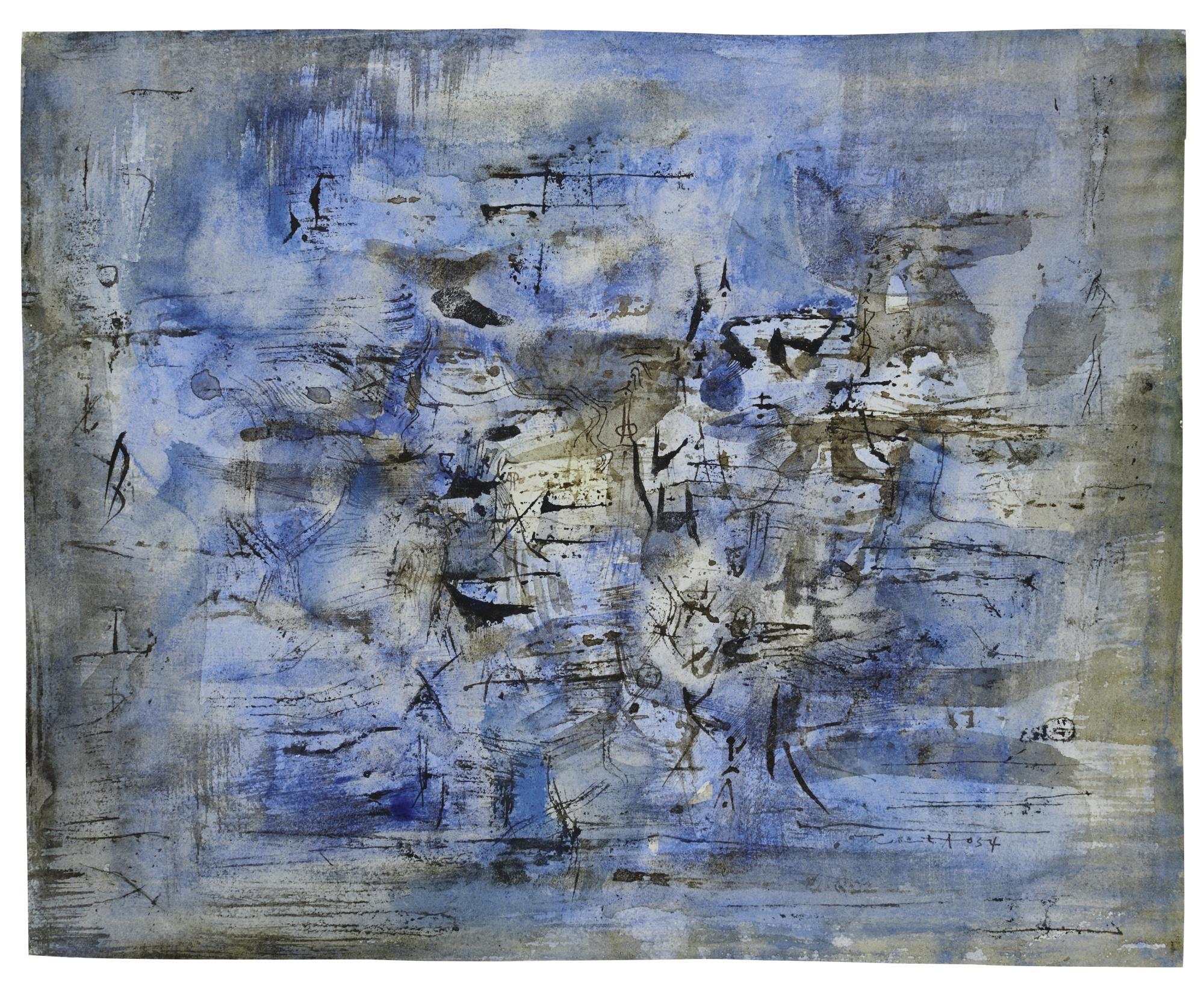 Zao Wou-Ki-Untitled-1954