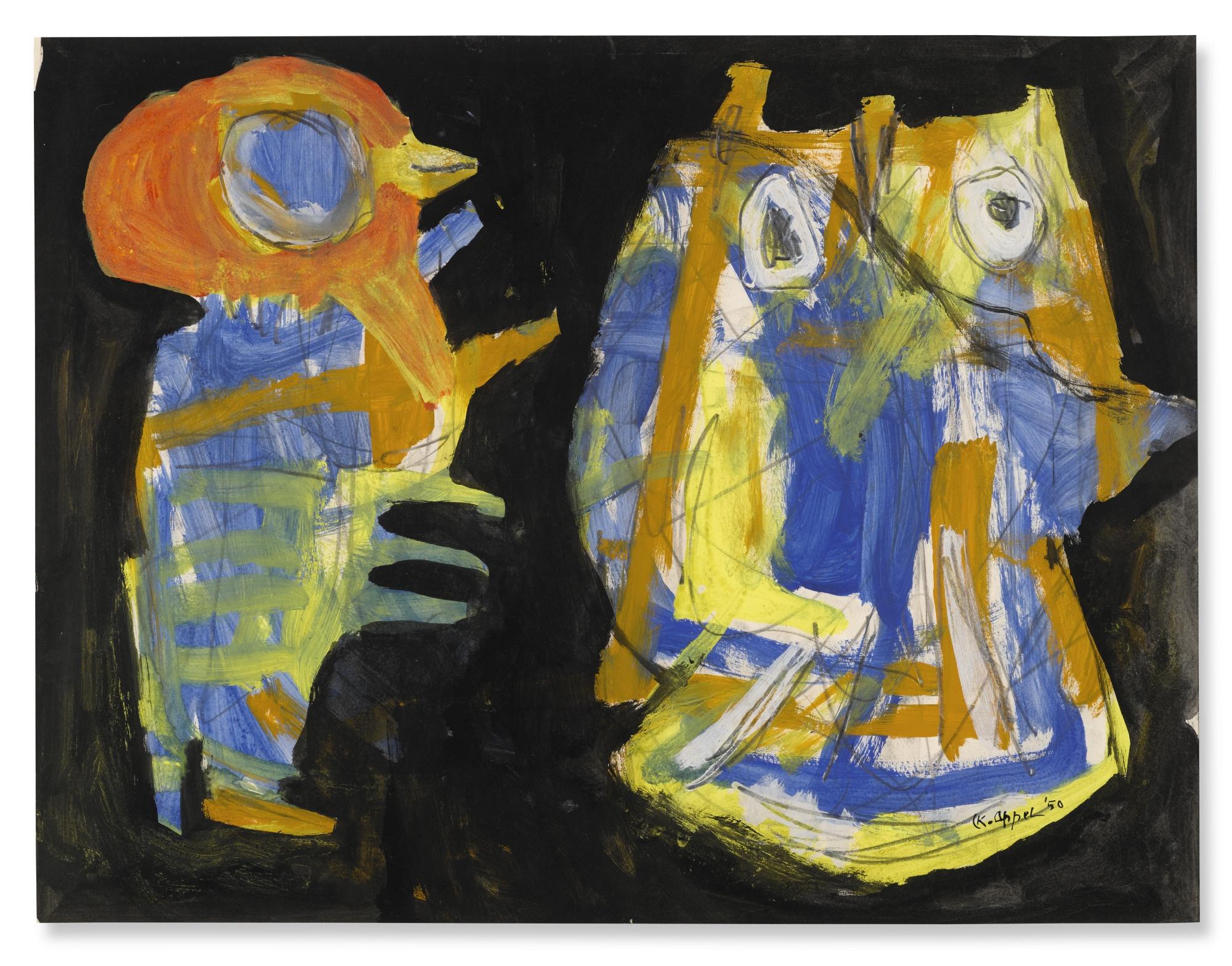 Karel Appel-Vogelbeesten-1950