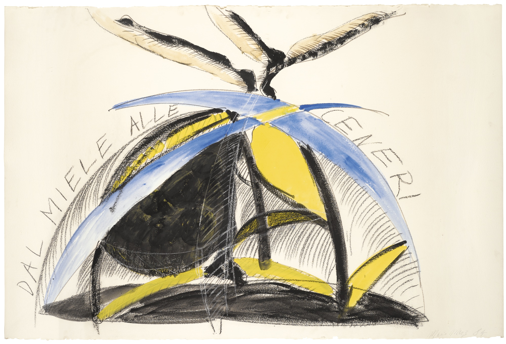 Mario Merz-Dal Miele Alle Ceneri-1984