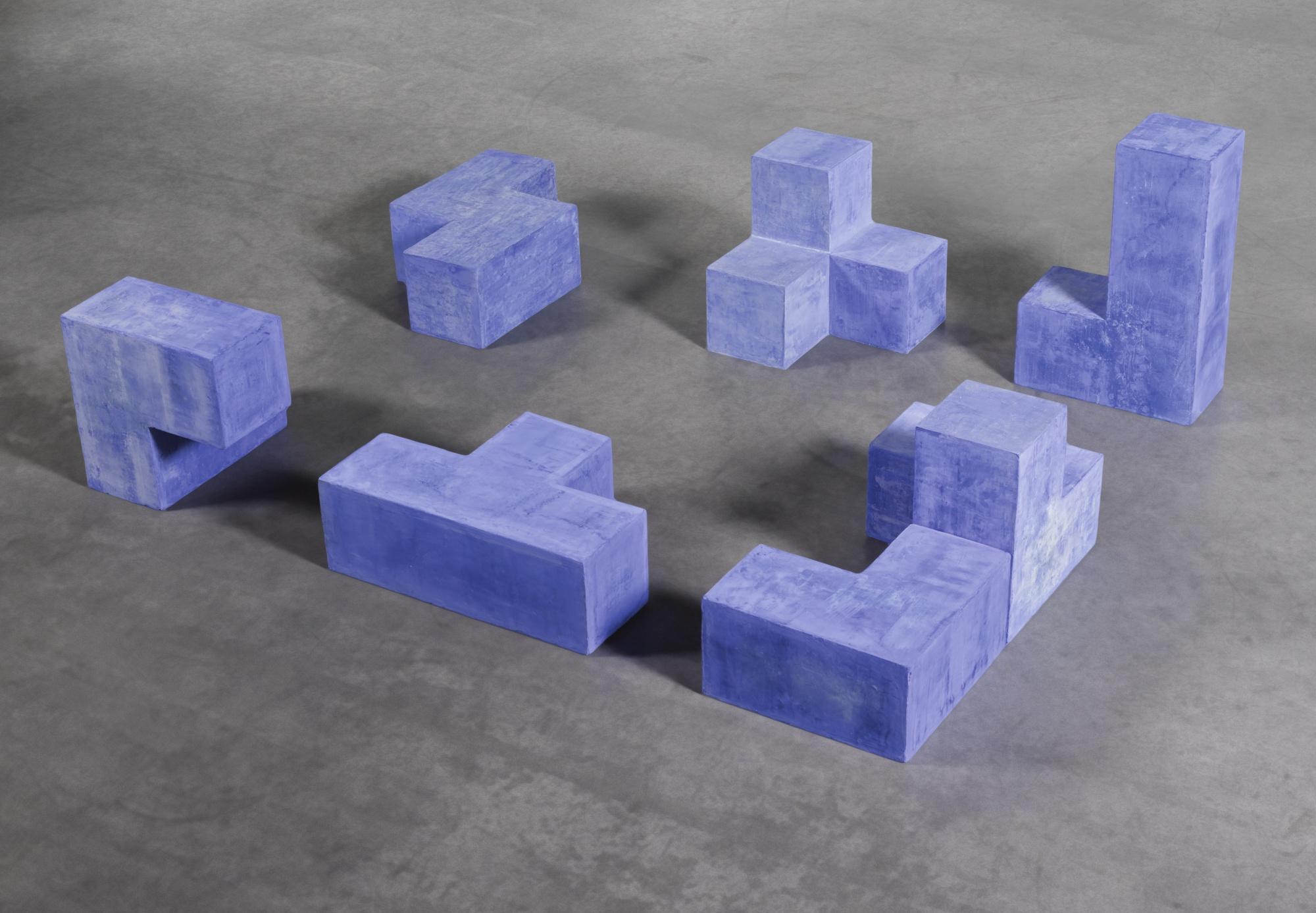 Damian Ortega-Proyecto Para Conjunto Habitacional Azul Pulido-2003