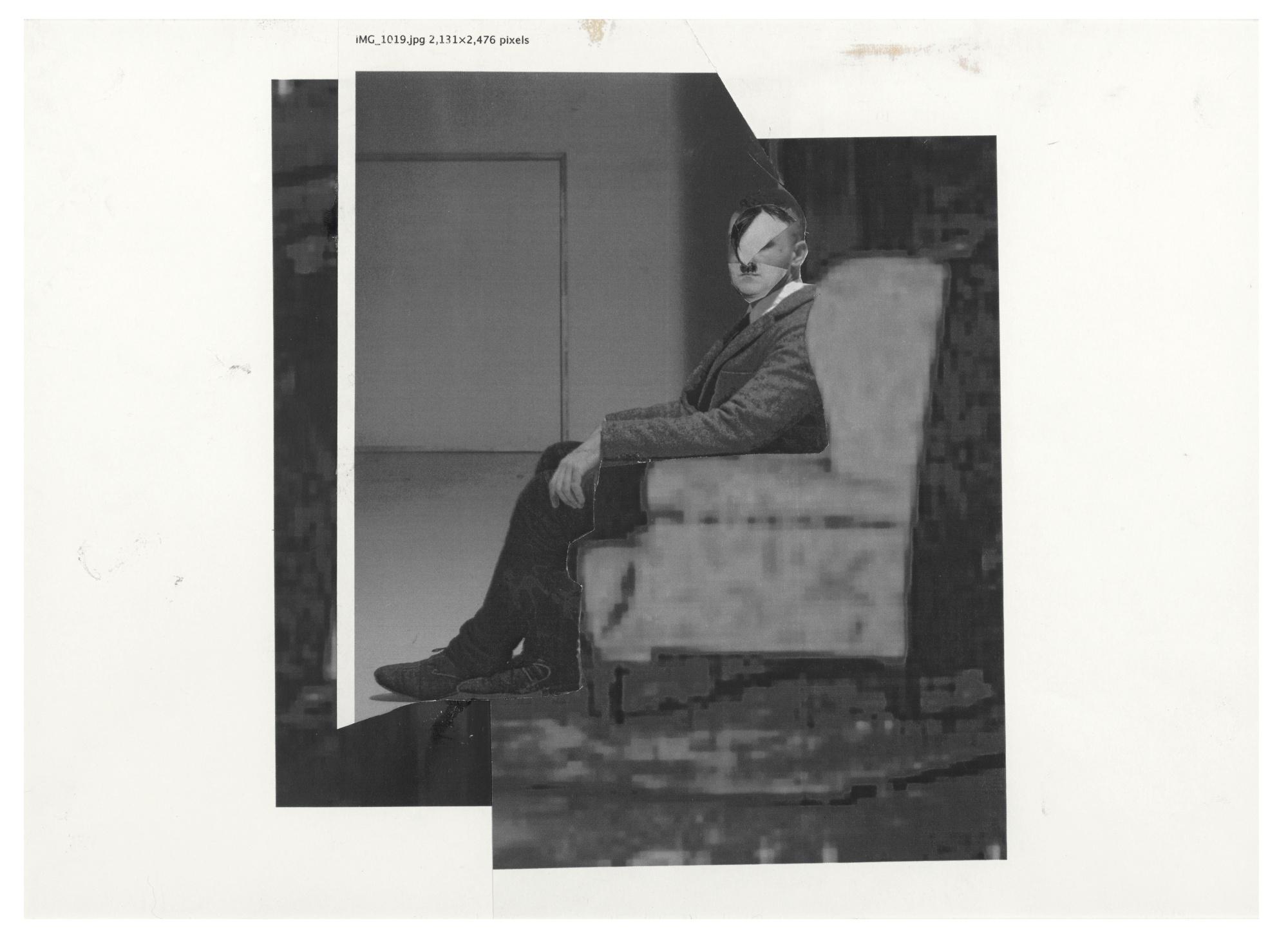 Adrian Ghenie-Untitled (Study For Self-Portrait As Hitler)-2012