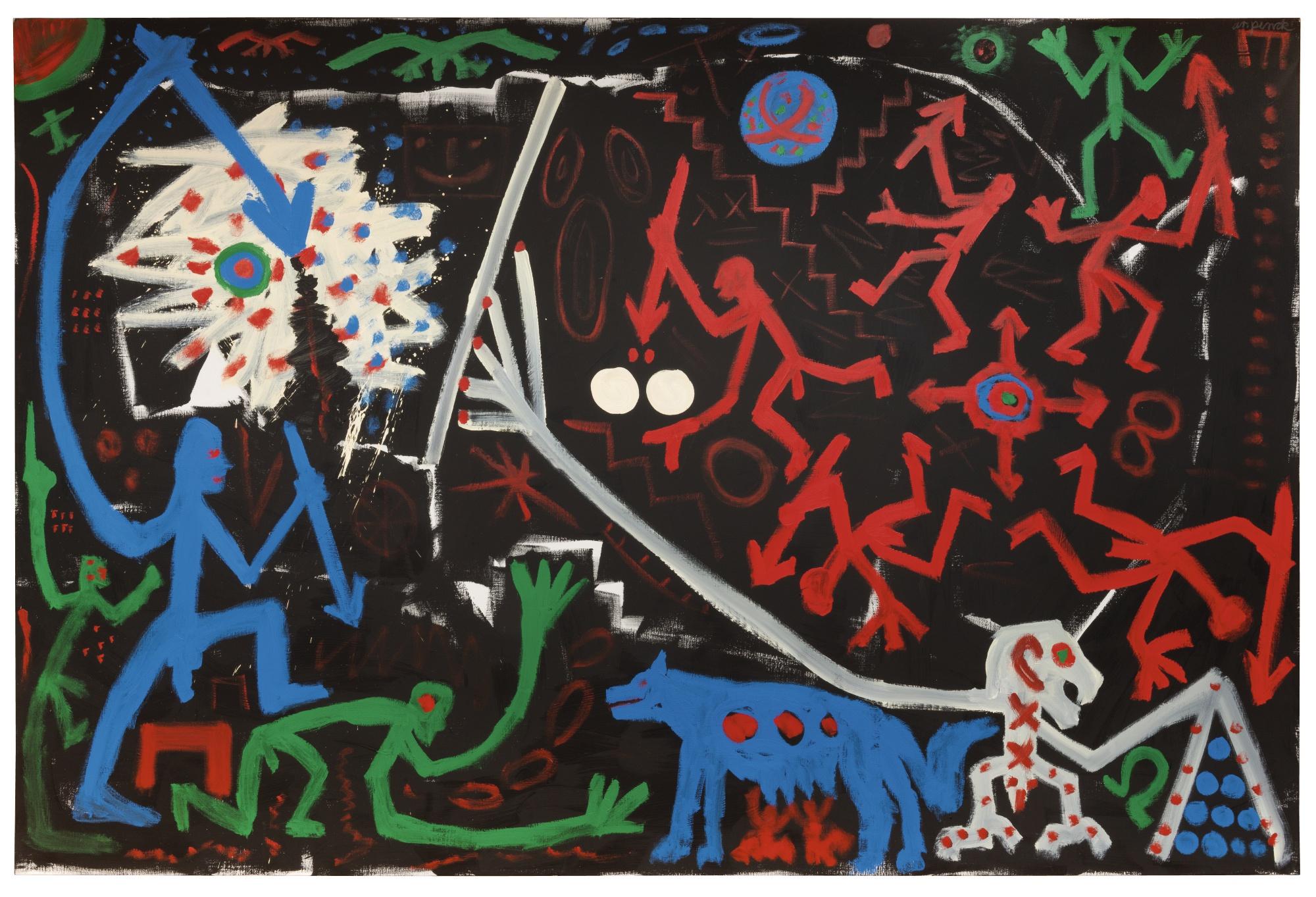 A.R. Penck-Roma Aeterna-1990