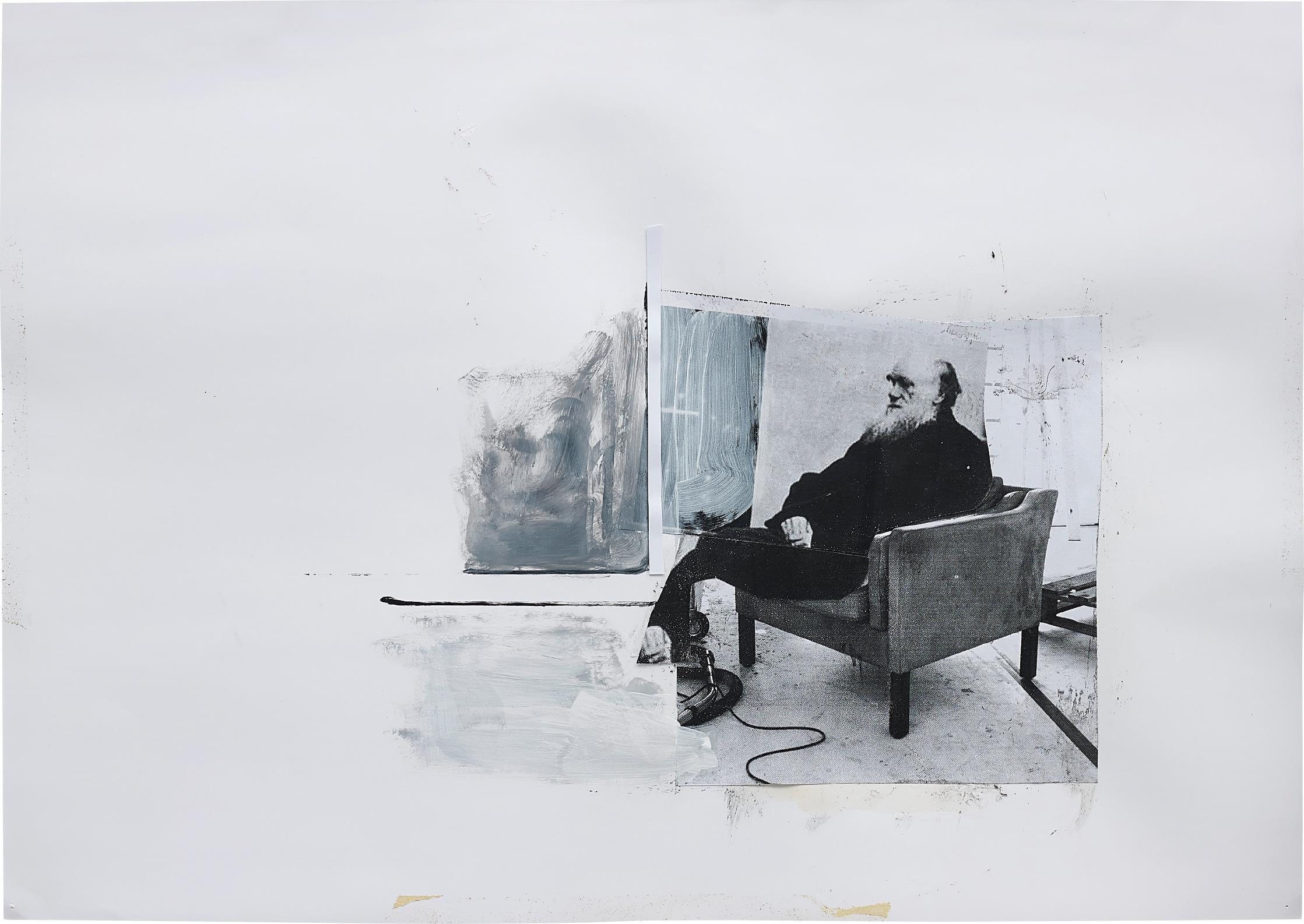Adrian Ghenie-Study for 'Self-Portrait as Charles Darwin'-2011