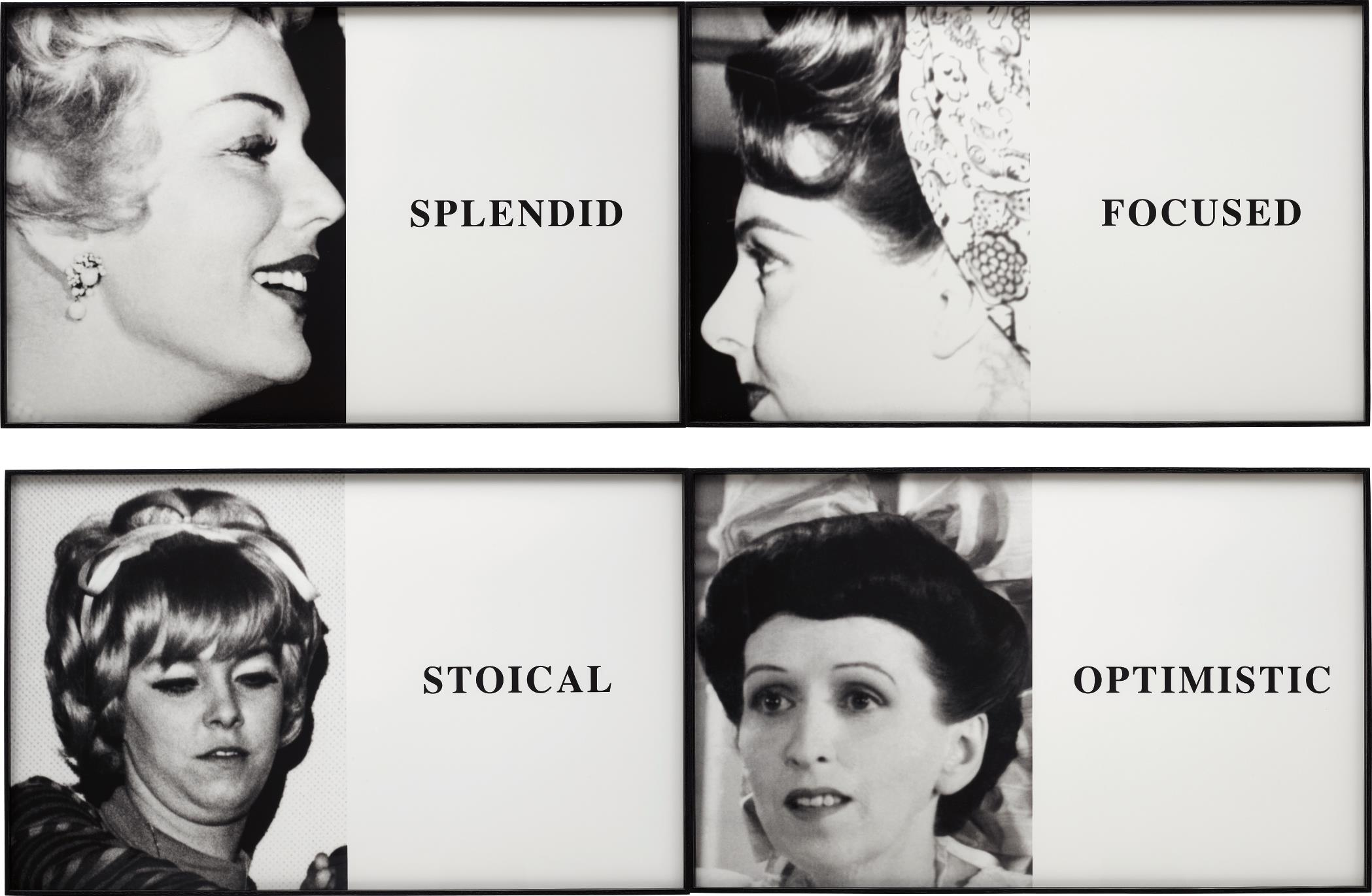 John Baldessari-Prima Facie: Splendid/Focused/Stoical/Optimistic-2005