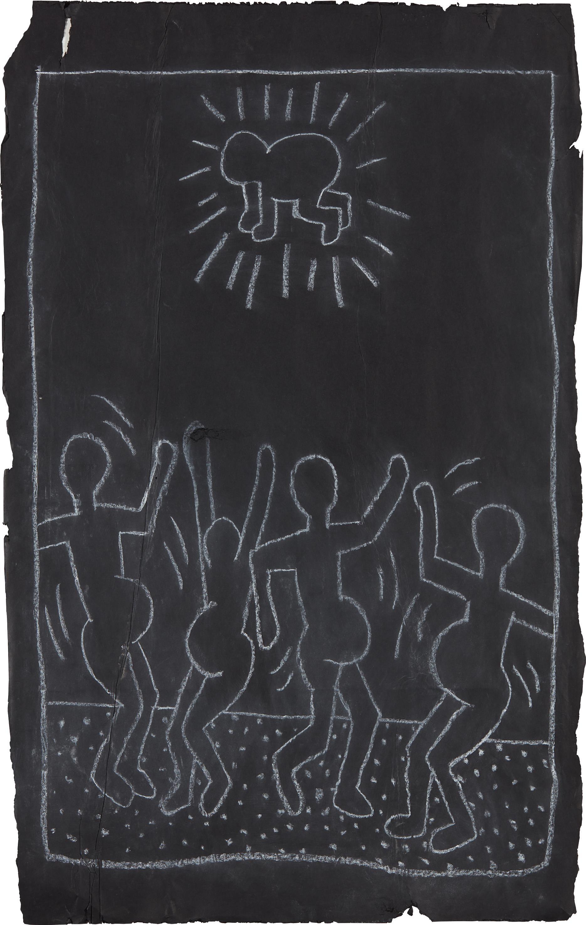 Keith Haring-Subway Drawing-1982