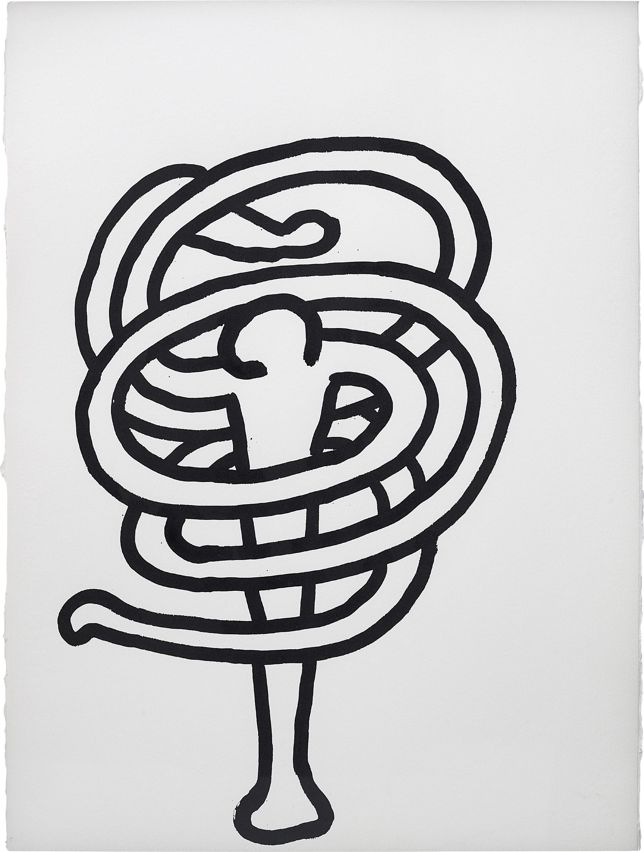 Keith Haring-Untitled (October 4, 1989)-1989