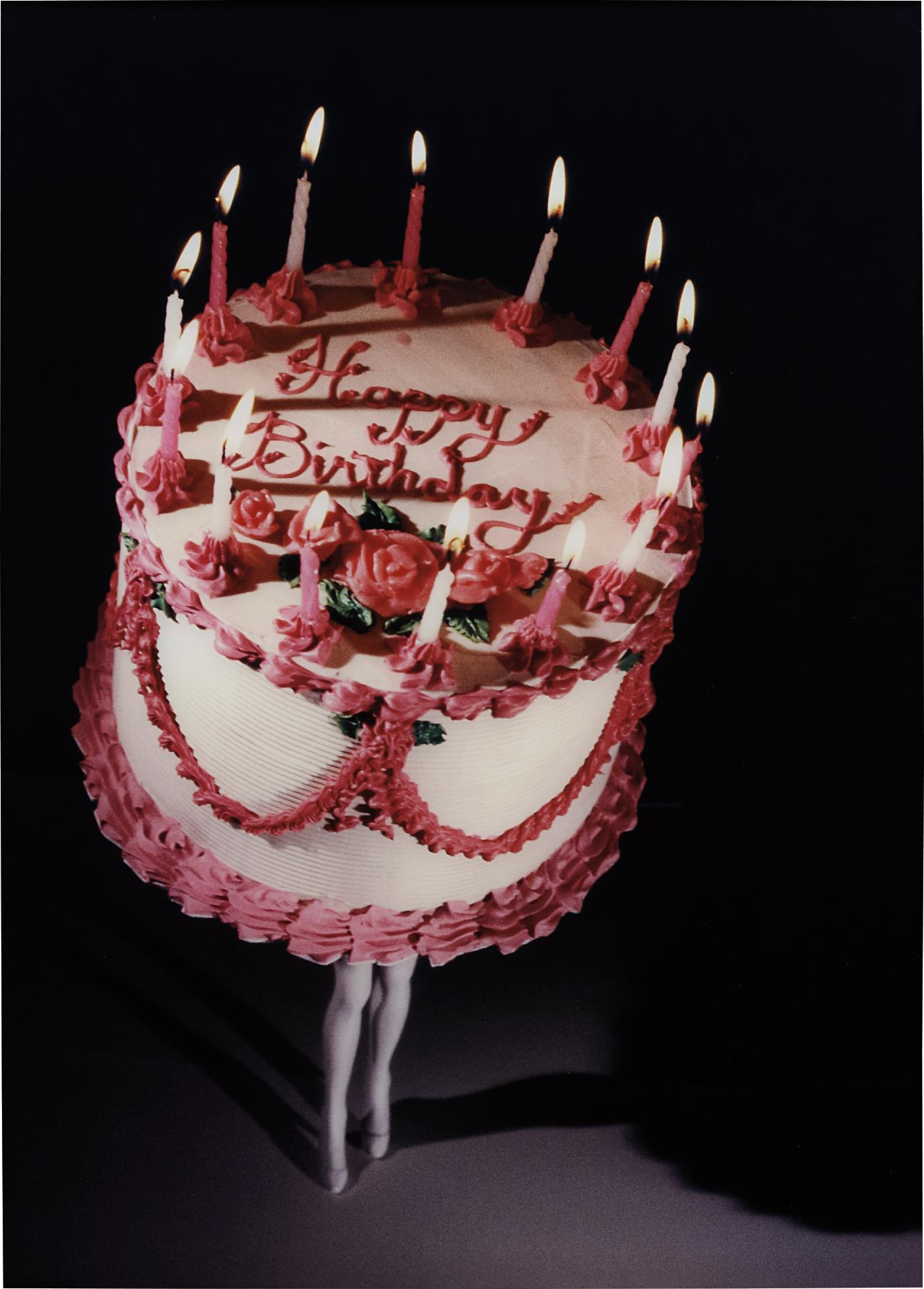 Laurie Simmons-Walking Cake II (Colour)-1989