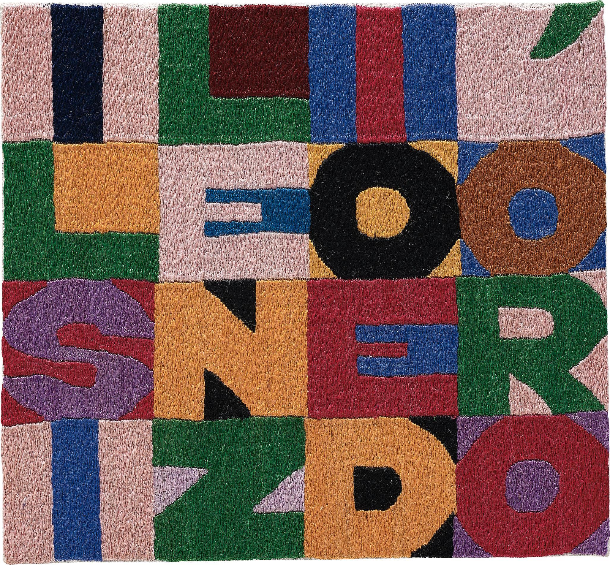 Alighiero Boetti-Il silenzio e d'oro-1988