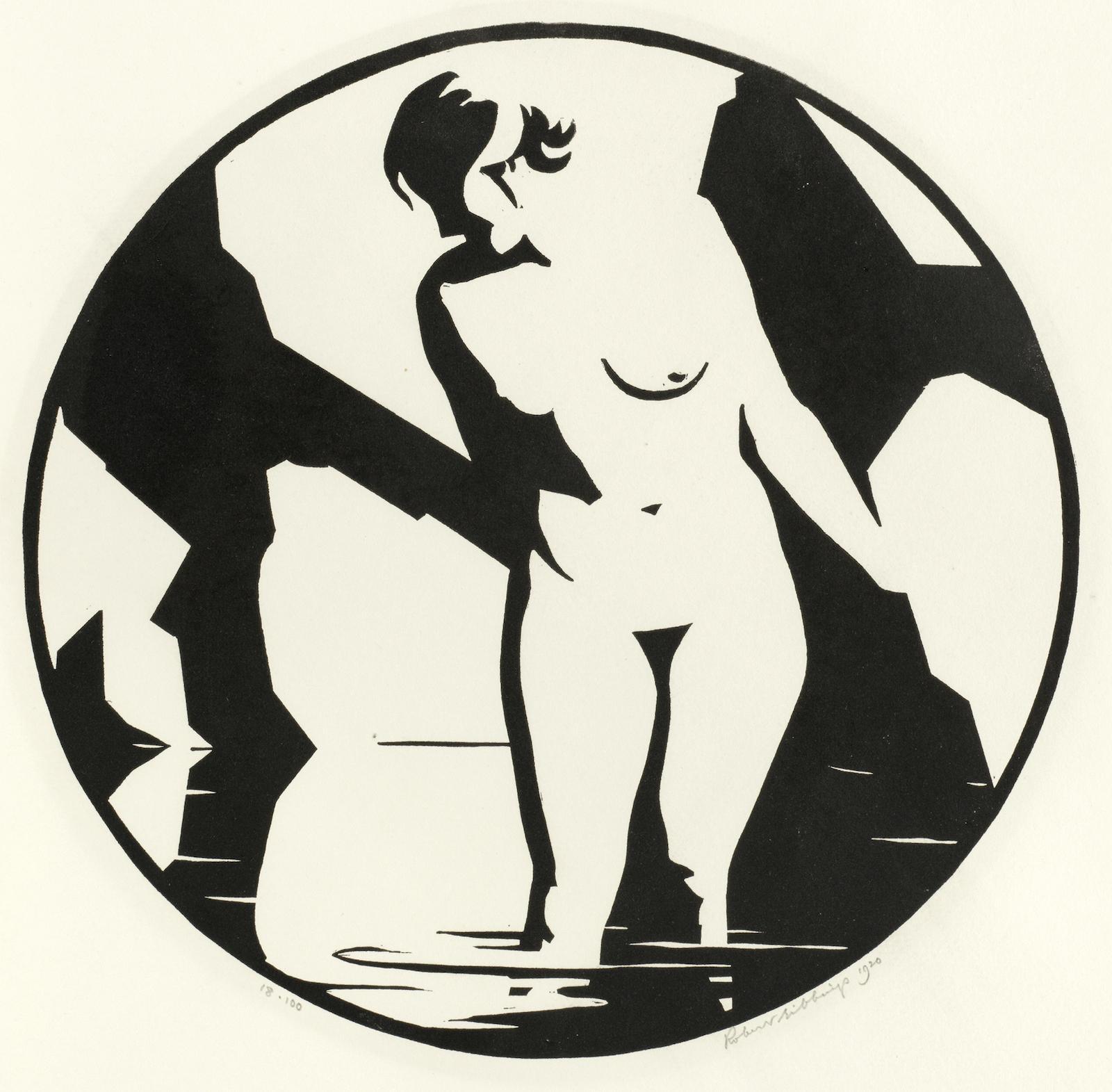 Robert Gibbings-Nude in Pool-1920