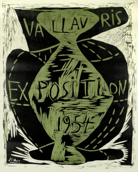 Pablo Picasso-Exposition Vallauris-1954