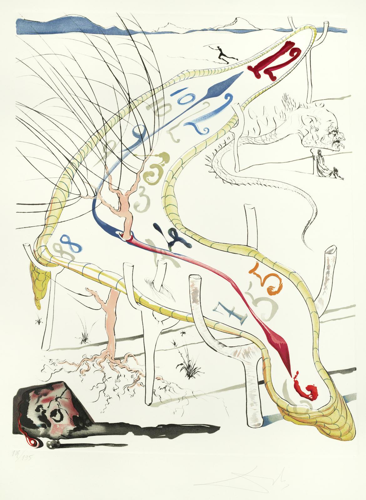 Salvador Dali-Les Montres gelatines de l'espace-temps, from 'La Conquete du Cosmos'-1974