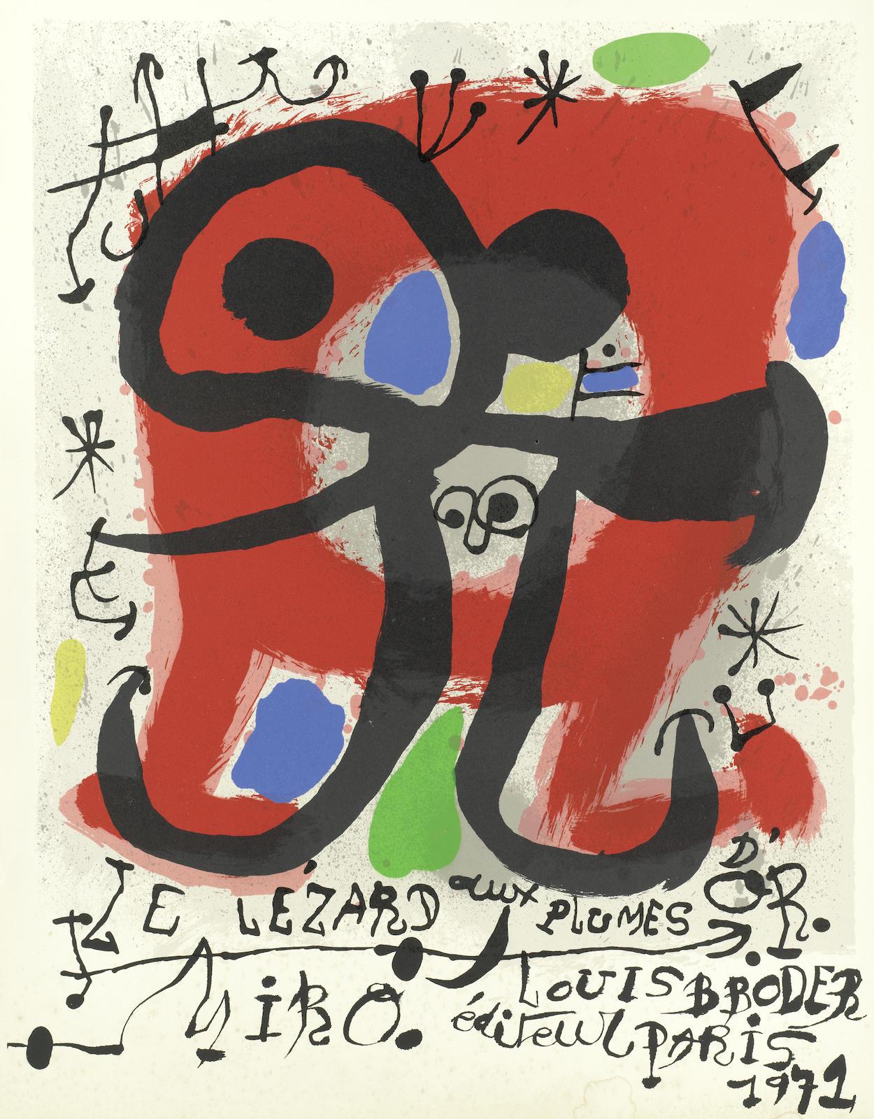 Joan Miro-Le Lezard aux Plumes d'Or-1971