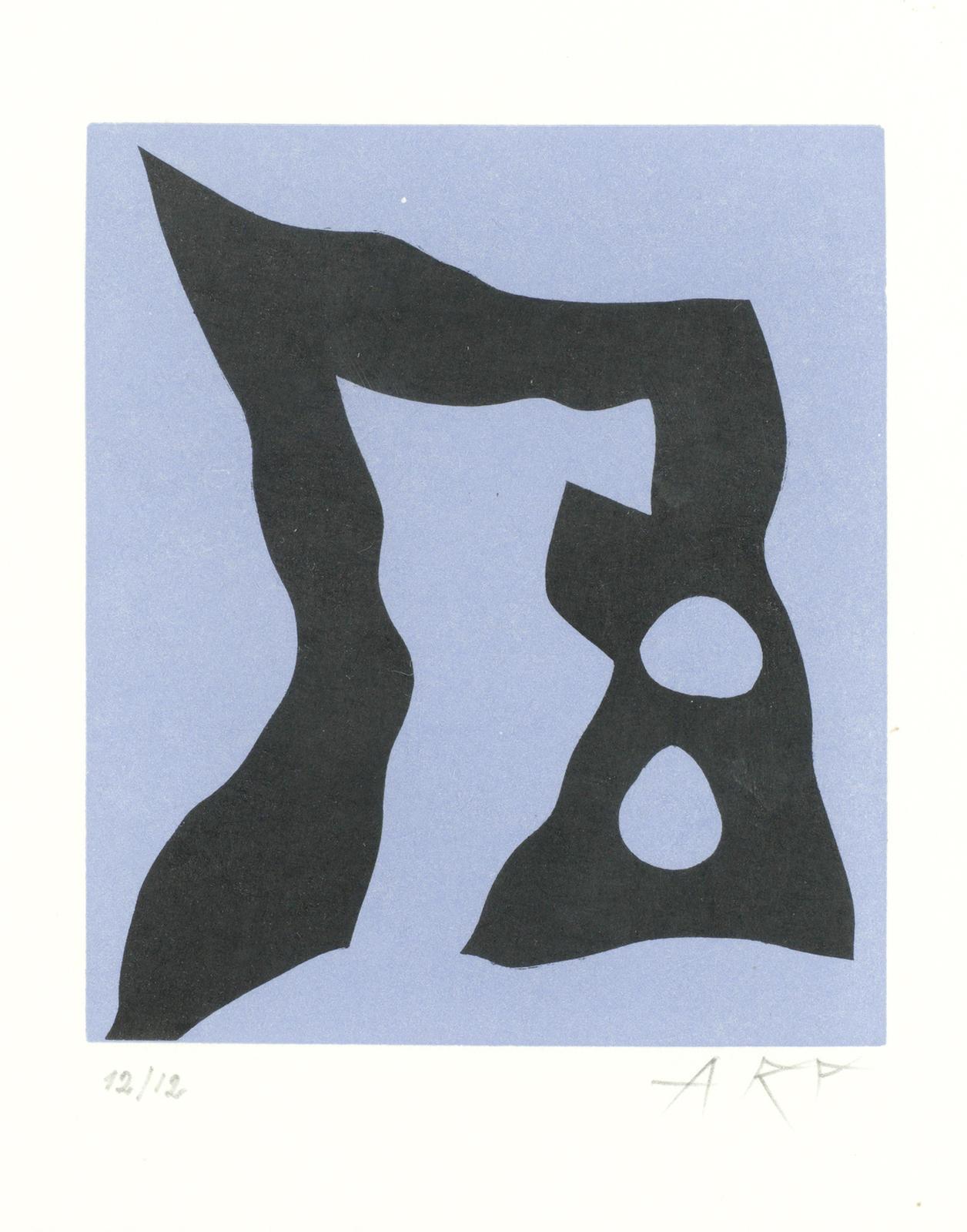 Jean Arp-Voilier II, from 'Le Voilier dans la Foret'-1957