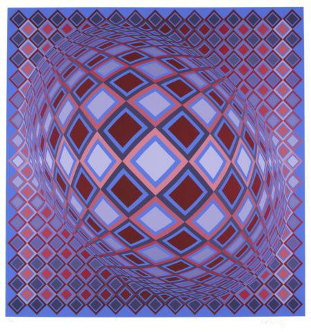Victor Vasarely-Terz Petit; Terz Large & Basel-1978