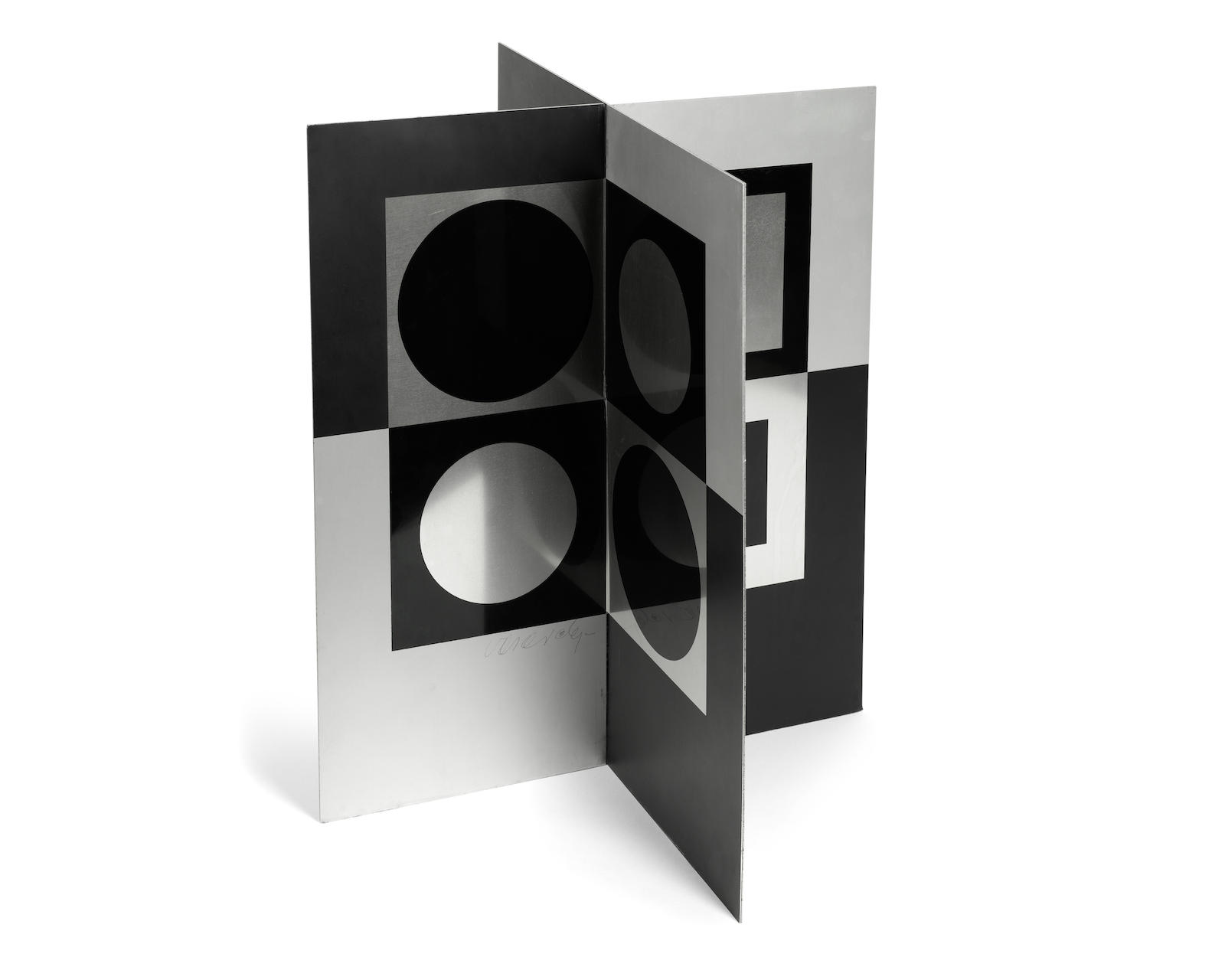 Victor Vasarely-Image-miroir (Mirror Image)-1965