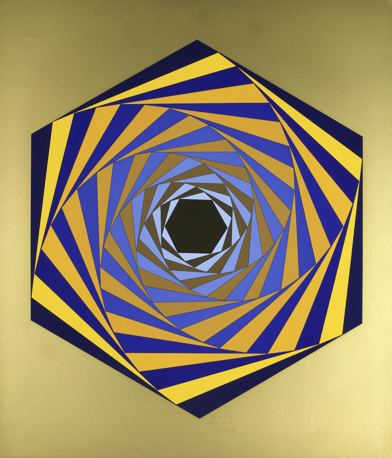Victor Vasarely-Hexagone-1981