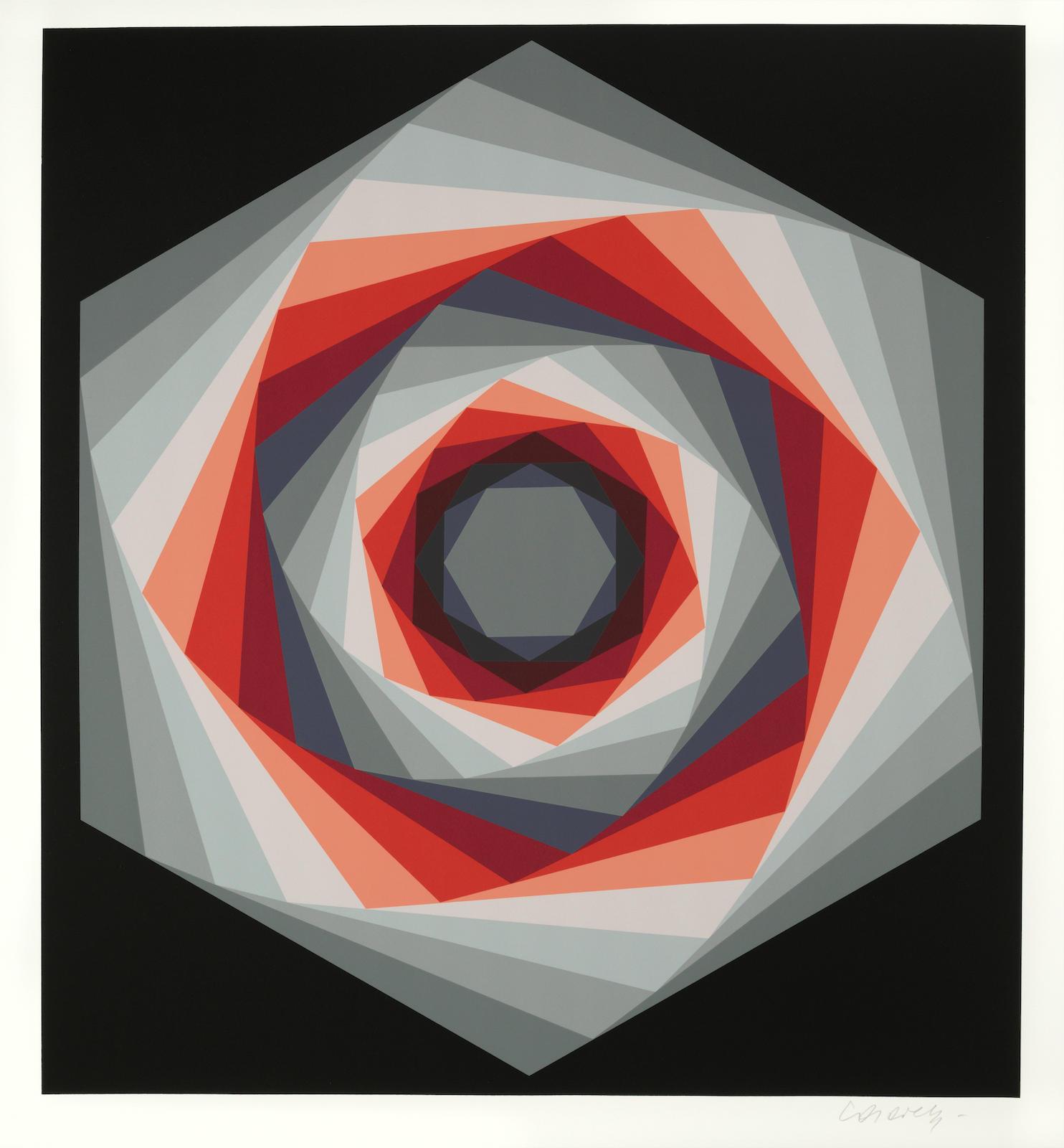Victor Vasarely-Kaglo 3-1986