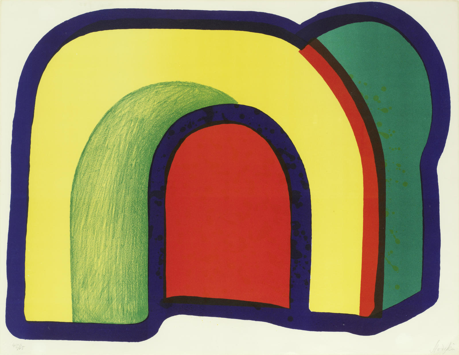 Howard Hodgkin-Arch (Composition with Red), from 'Europaische Graphik VII. Englische Kunstler'-1970