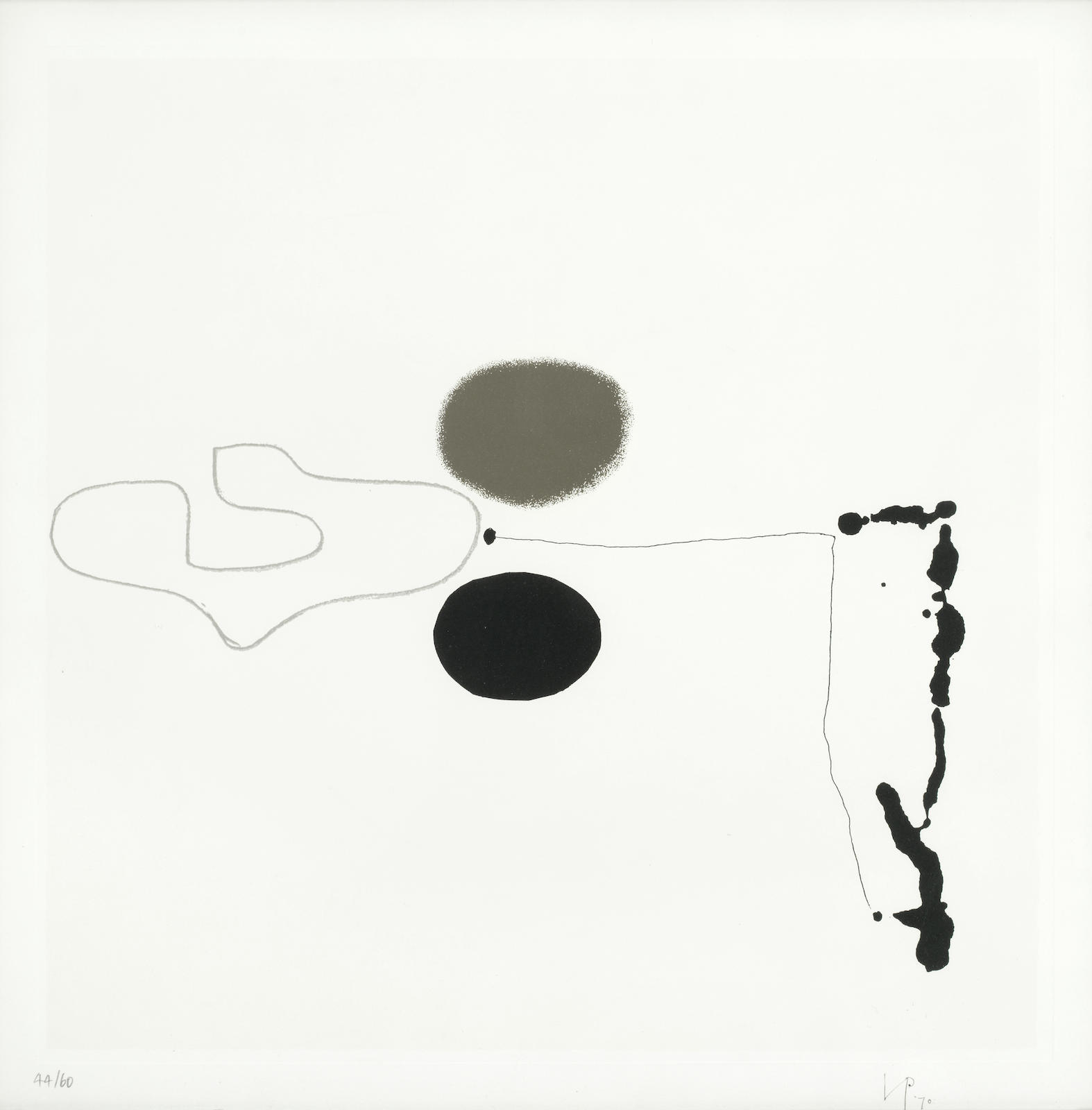 Victor Pasmore-Linear Development 2, from 'Points of Contact - Linear Developments'-1970