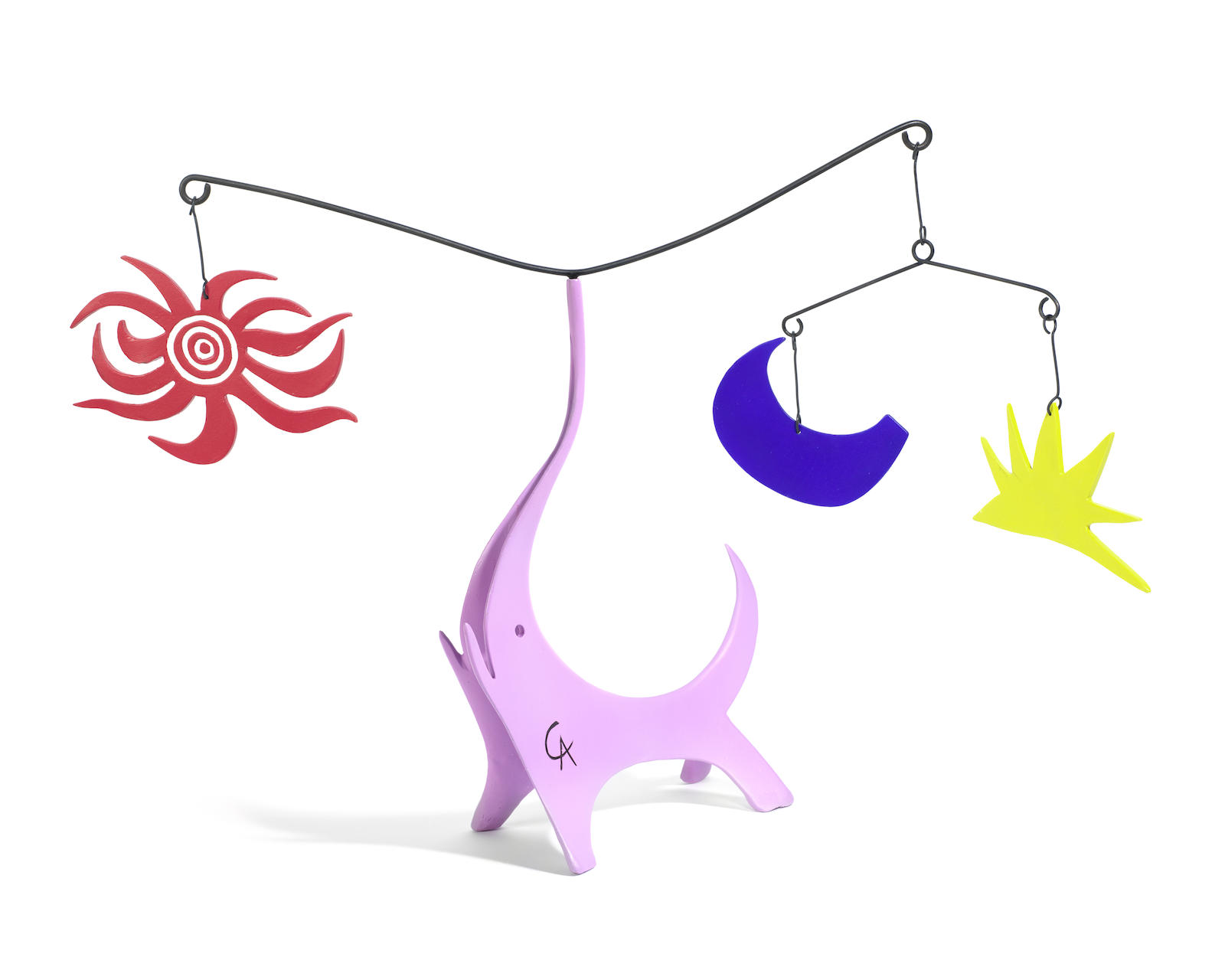 Alexander Calder-After Alexander Calder - Pink Elephant (Sun, Moon and Star)-