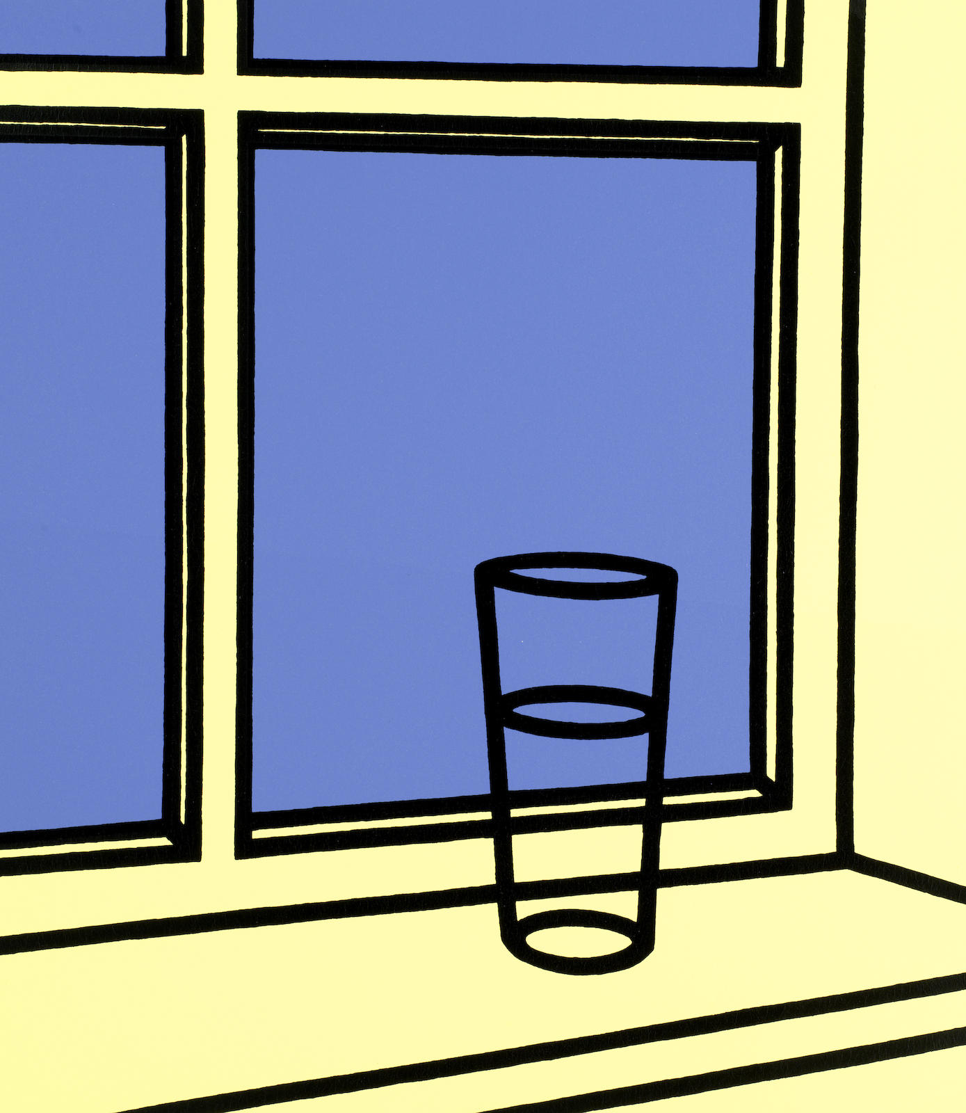 Patrick Caulfield-Oh Helen, I roam my room, from 'Some Poems of Jules Laforgue'-1973