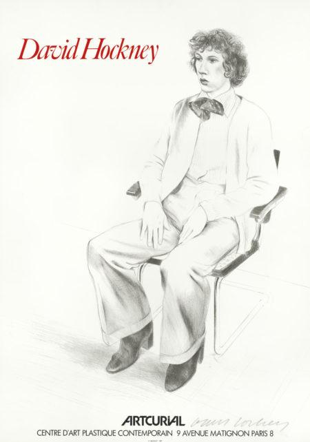 David Hockney-After David Hockney - Artcurial Exhibition Poster-1973