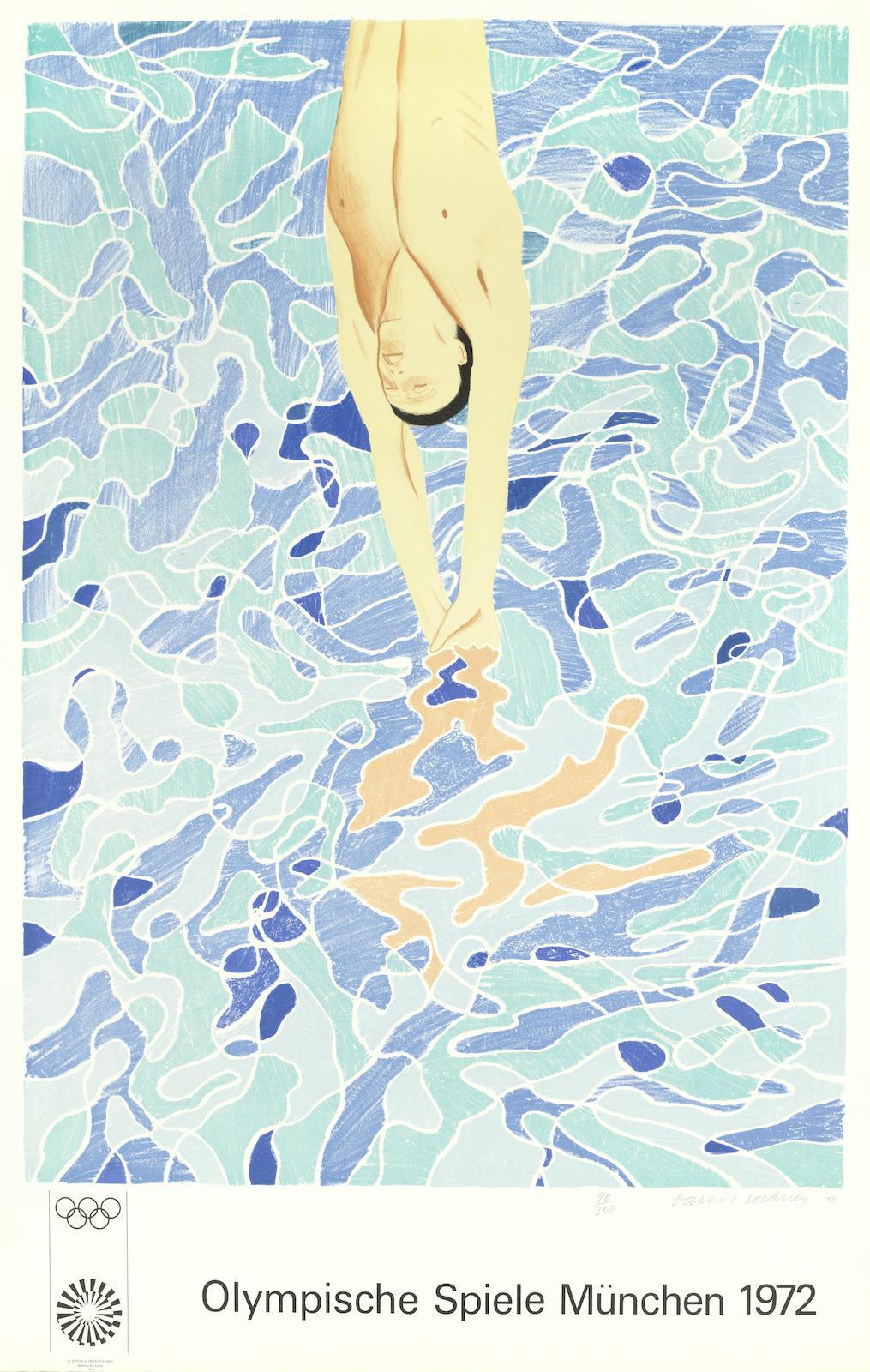 David Hockney-Olympische Spiele Munchen 1972-1970