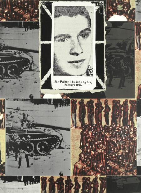 Joe Tilson-Jan Palach: Suicide by fire, January 1969-1969