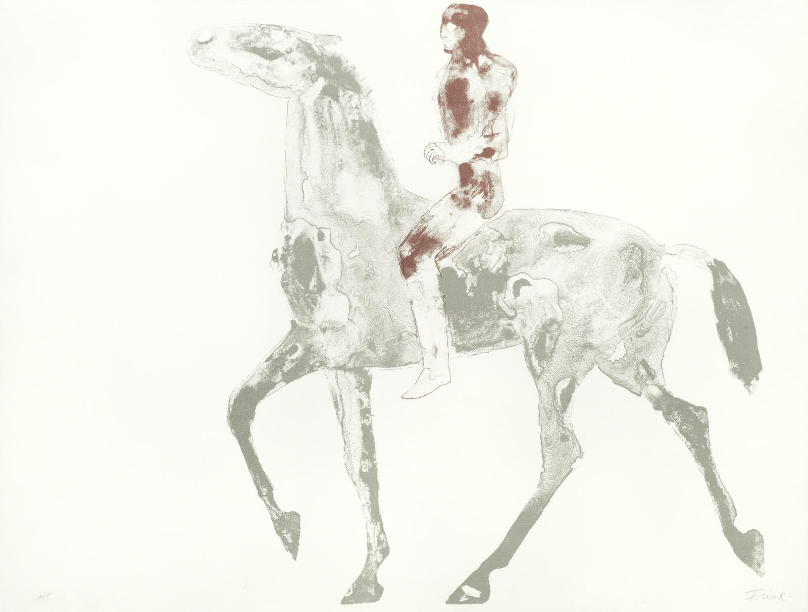 Elisabeth Frink-Horse and Rider IV-1971