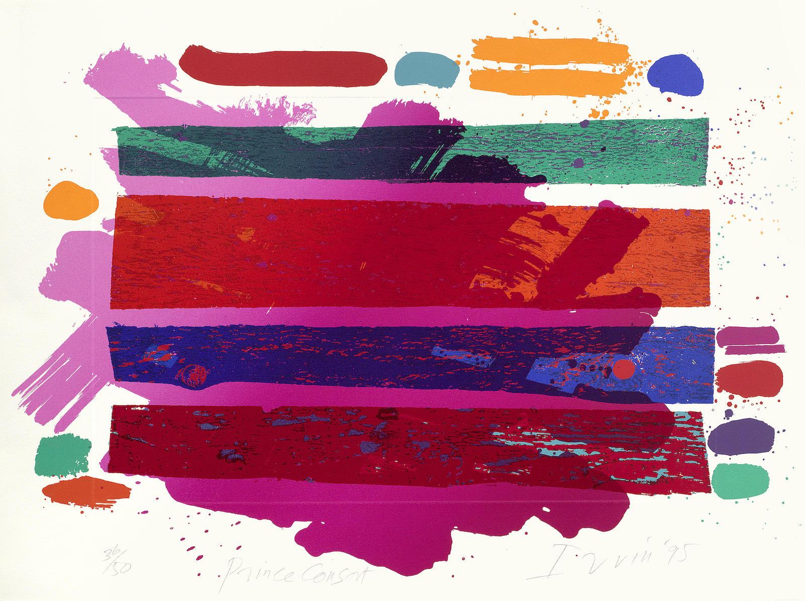 Eduardo Paolozzi-Albert Irvin-Elisabeth Frink-Various Artists - A Collection of Modern British Prints (Including Albert Irvin 'Prince Consort', from Royal College of Art's 'Six Artists' portfolio; Elisabeth Frink 'Coriolanus' (W.1); Eduardo Paolozzi 'Les Chants de Maldoror, Ducasse', from Royal College of Art's 'Six Artists' portfolio and two prints from the from Royal College of Art's 'Thirty Five Artists' portfolio, 1982: Norman Ackroyd 'Jackson's Pond'; Paul Huxley 'Untitled')-1995