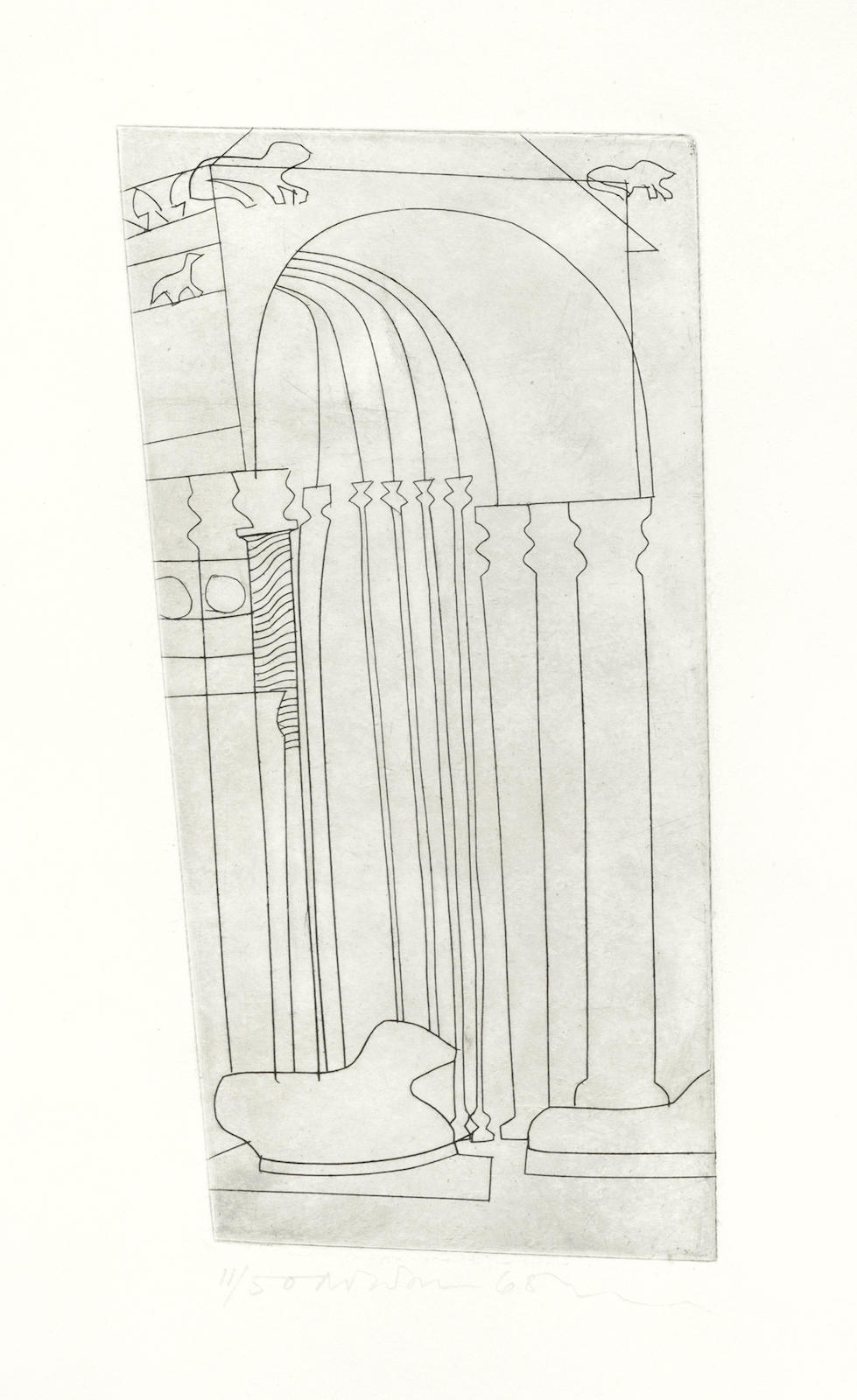 Ben Nicholson-Verona (The Duomo), from 'Architectural Suite'-1966