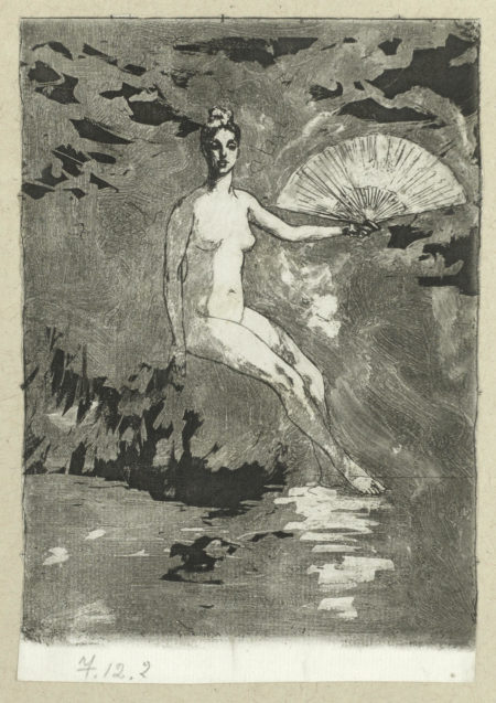 Theodore Roussel-Summer; A Study for the Figure Dawn; Poppy in a Vase; The Prints of Theodore Roussel-1900
