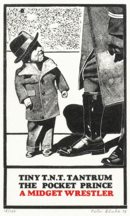 Peter Blake-Tiny T.N.T. Tantrum The Pocket Prince, from '18 Small Prints'-1973