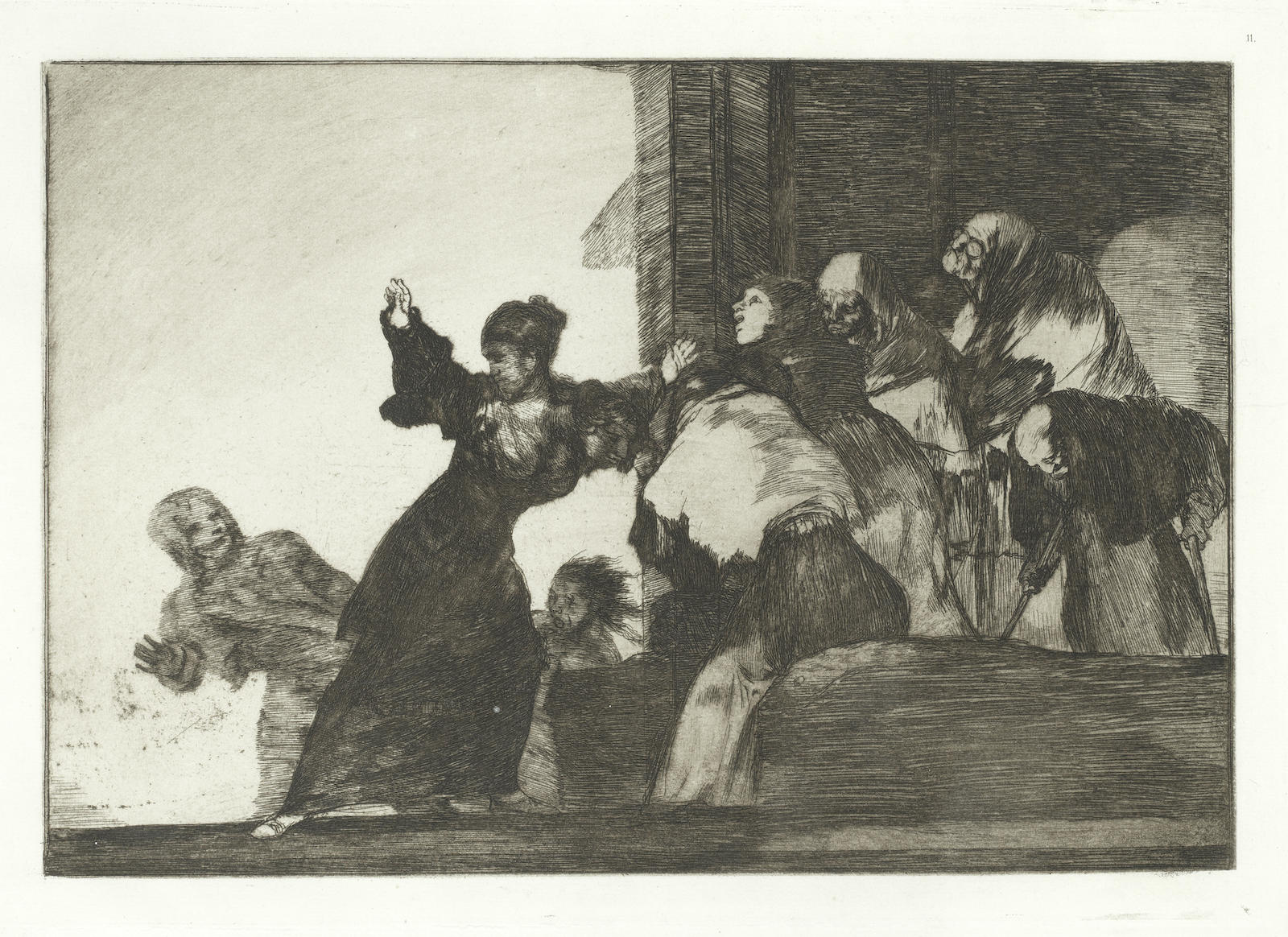 Francisco de Goya-Disparate Pobre, plate 11 from Los Proverbios-