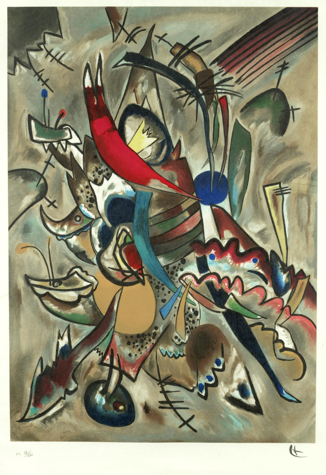 Wassily Kandinsky-After Wassily Kandinsky - Two Ovals-1919