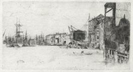 James Abbott McNeill Whistler-Two etchings (Free Trade Wharf; Billingsgate)-1877