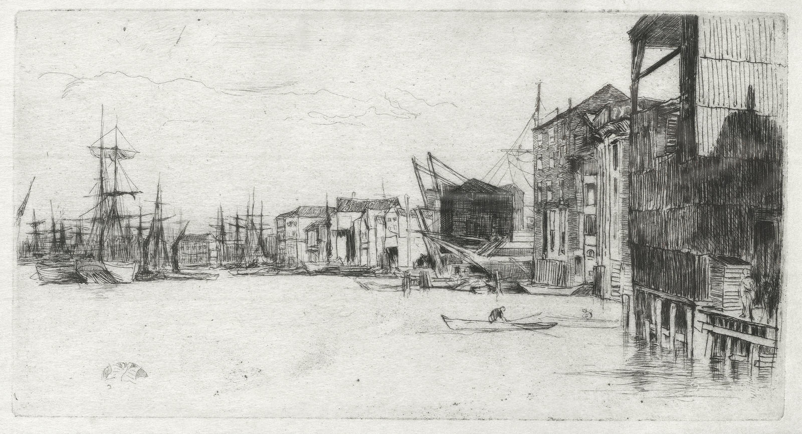 James Abbott McNeill Whistler-Two etchings (Free Trade Wharf; Billingsgate)-1877