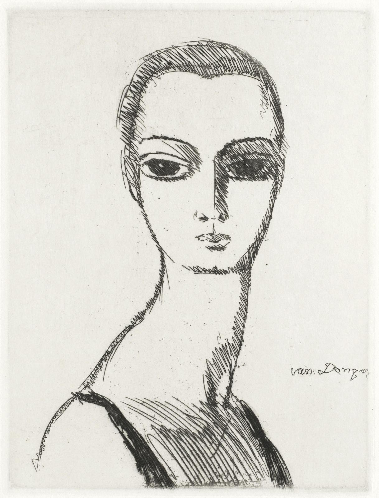 Kees van Dongen-Tete de femme au long cou-1925
