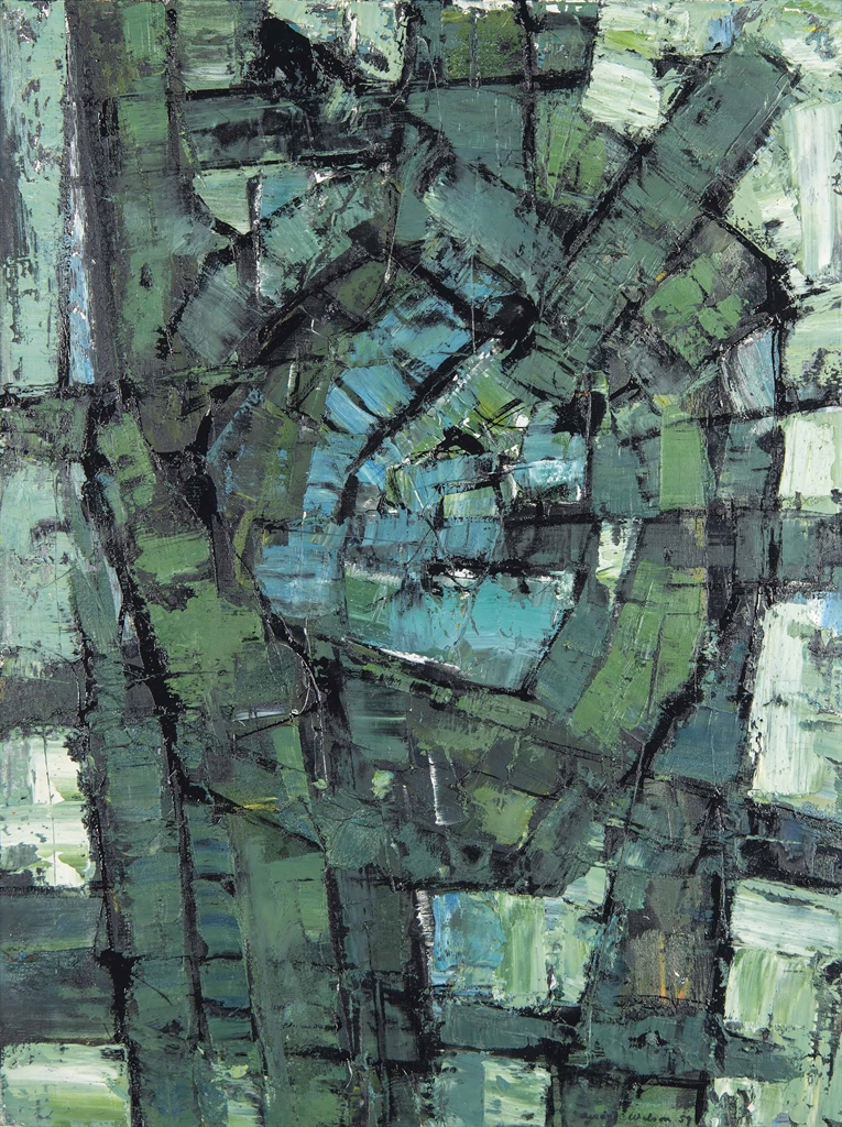 Frank Avray Wilson-Abstract Composition-1959