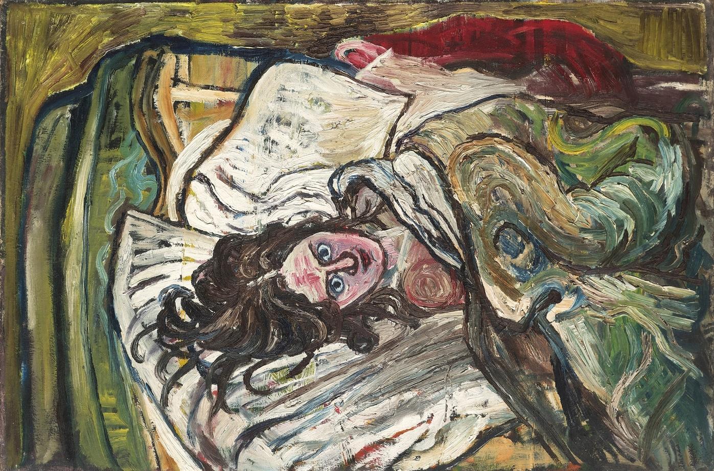 John Bratby-Jean in Bed-1954