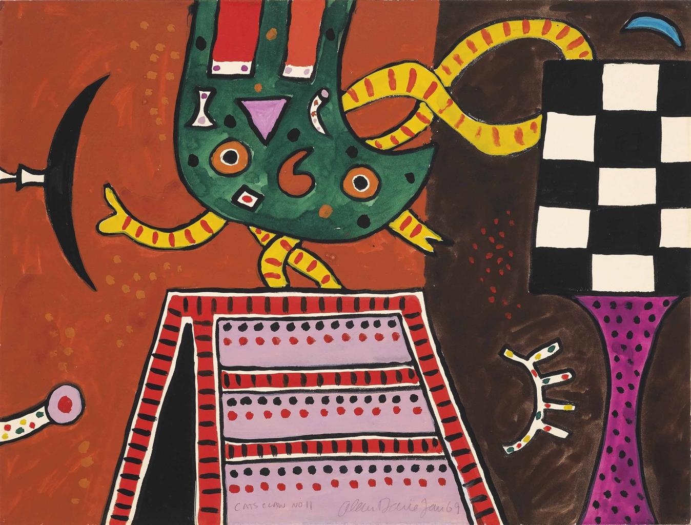 Alan Davie-Cat's Claw no. 11-1969