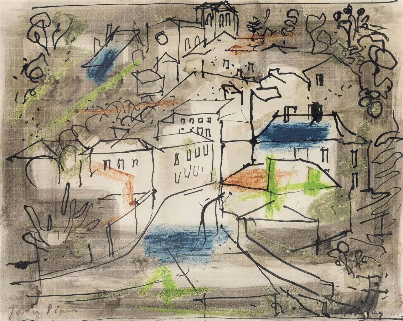 John Piper-Village, Charente-1957