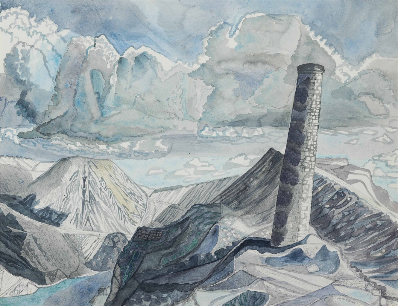 Edward Bawden-Candletown Stack-1982