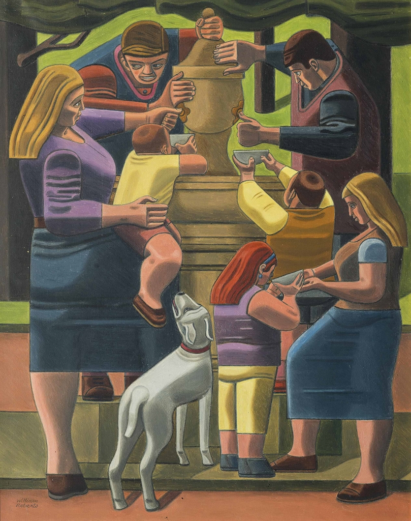 William Roberts-The Drinking Fountain-1967