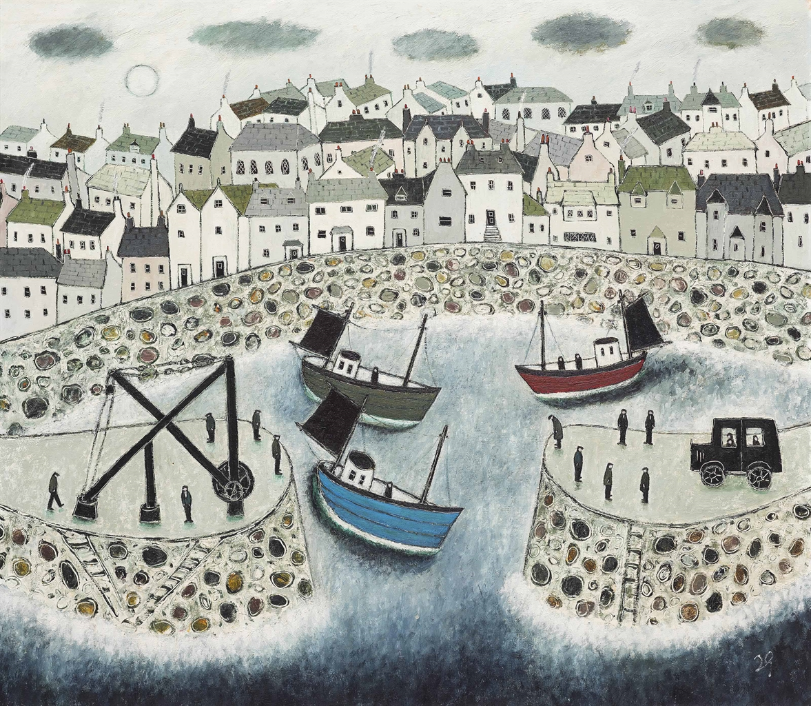 Joan Gillchrest-Mousehole Harbour-