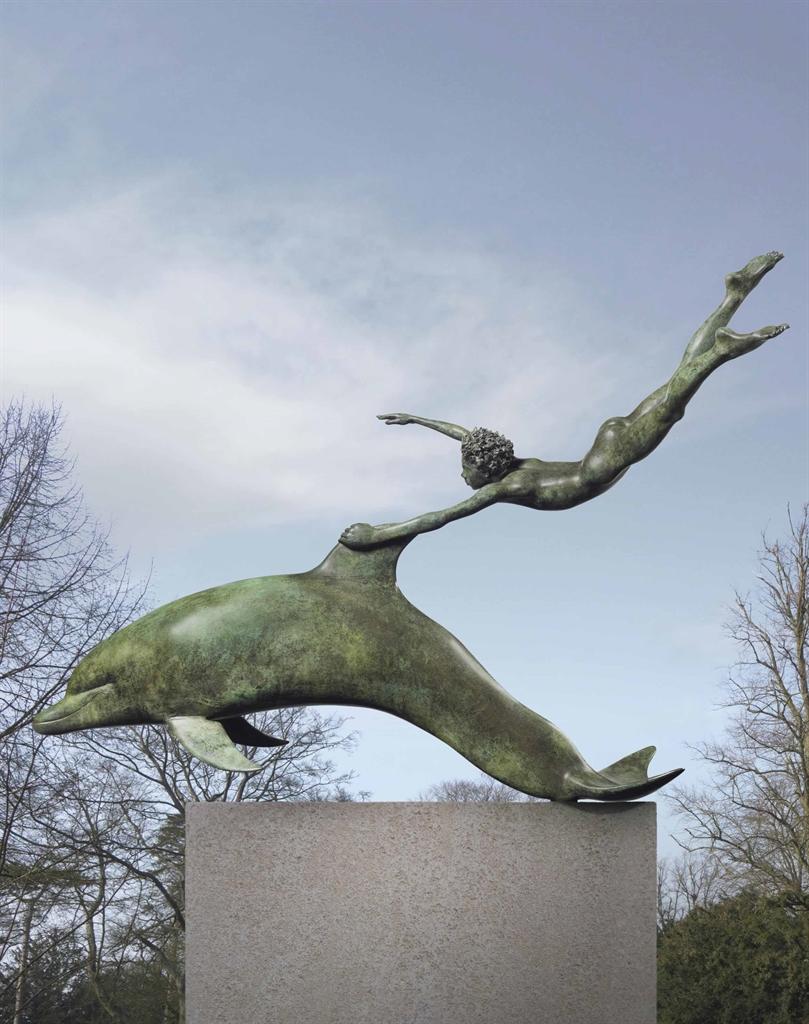 David Wynne-Boy with a Dolphin-1973