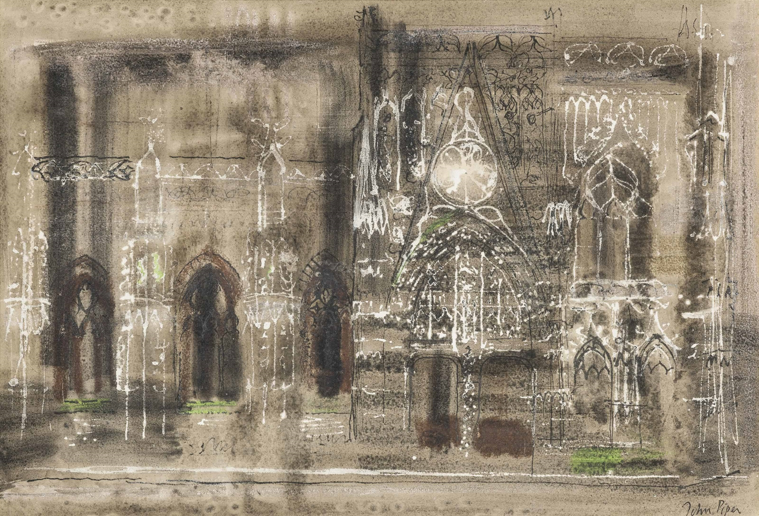 John Piper-Abbeville Cathedral-