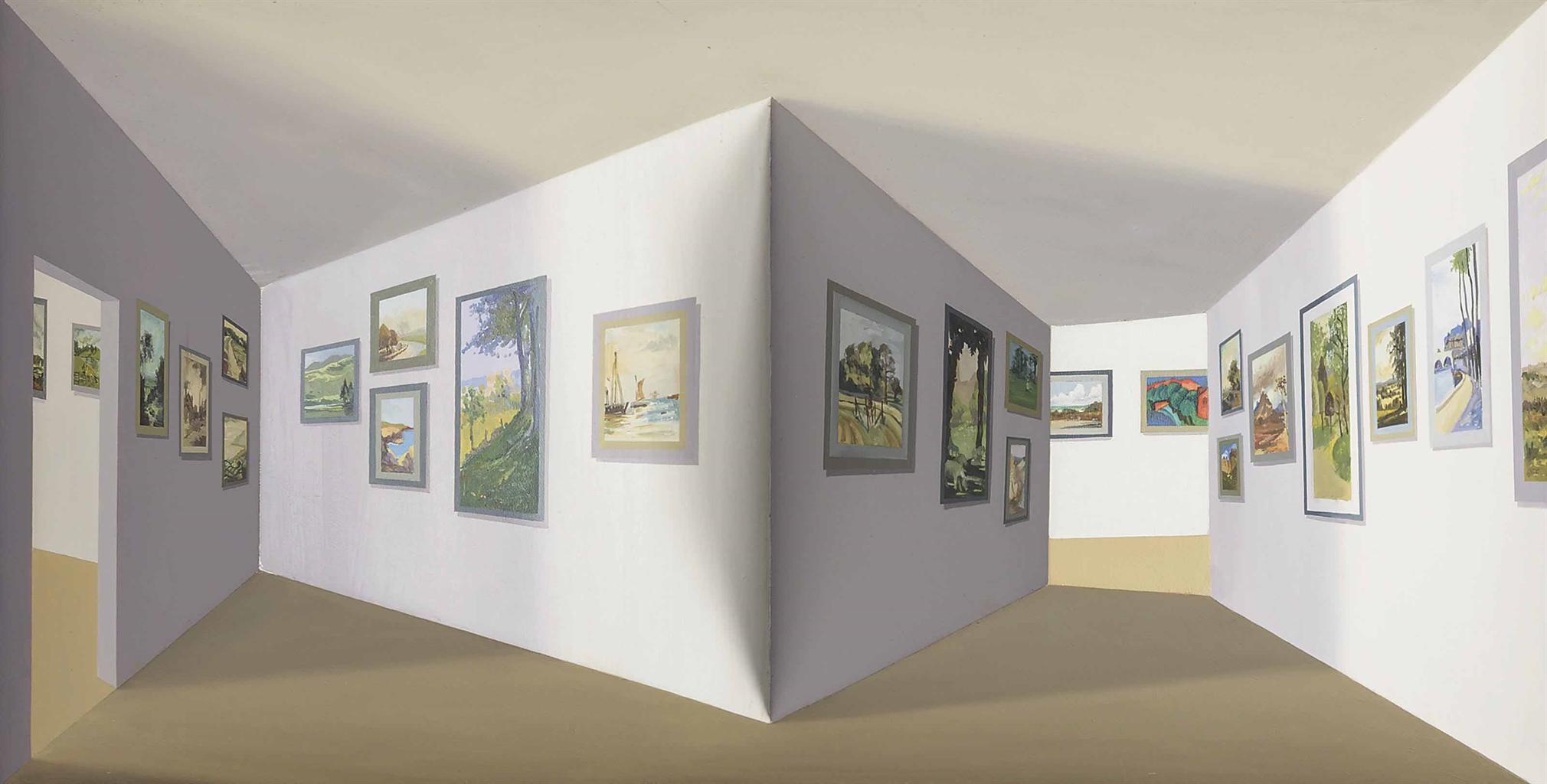 Patrick Hughes-Landscapeology-1994